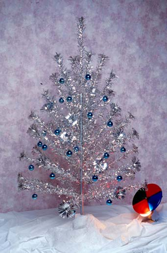 Aluminum Christmas Tree - Kansapedia - Kansas Historical Society