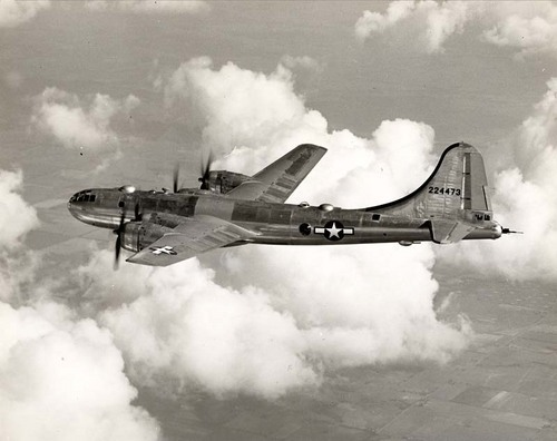 A real B-29 Superfortess in flight