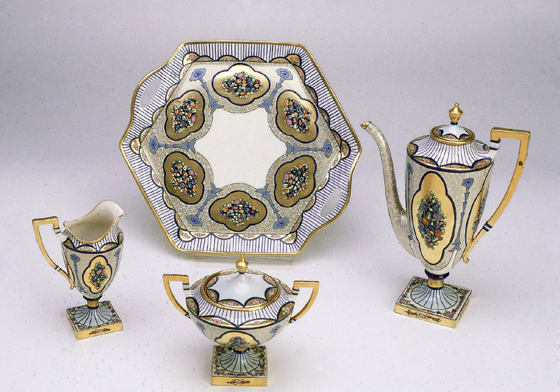 Hand-painted china from the 1920s.