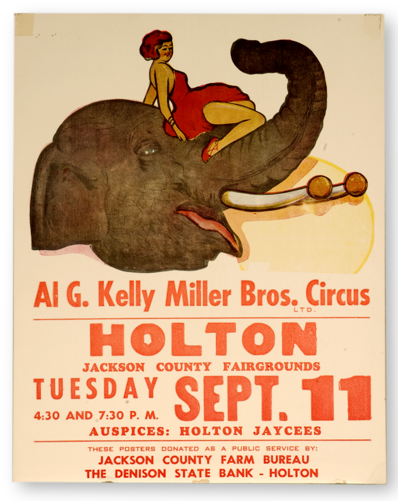 Circus poster  from Holton, Kansas.