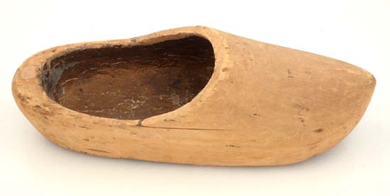 Side view of clog