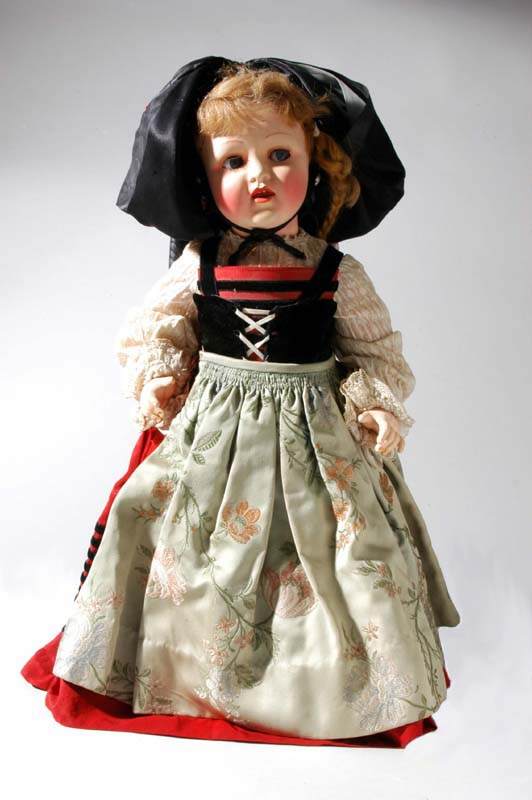 Doll dressed in costume of the French province of Dauphine