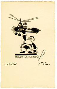 Christmas card  sent by Amelia Earhart and George Putnam