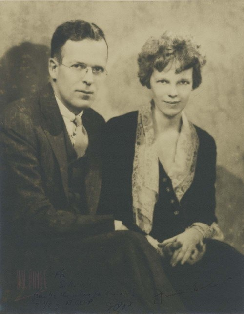 Amelia Earhart and George Putnam