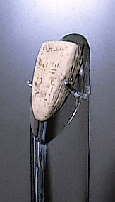 Effigy head on display at the Kansas Museum of History