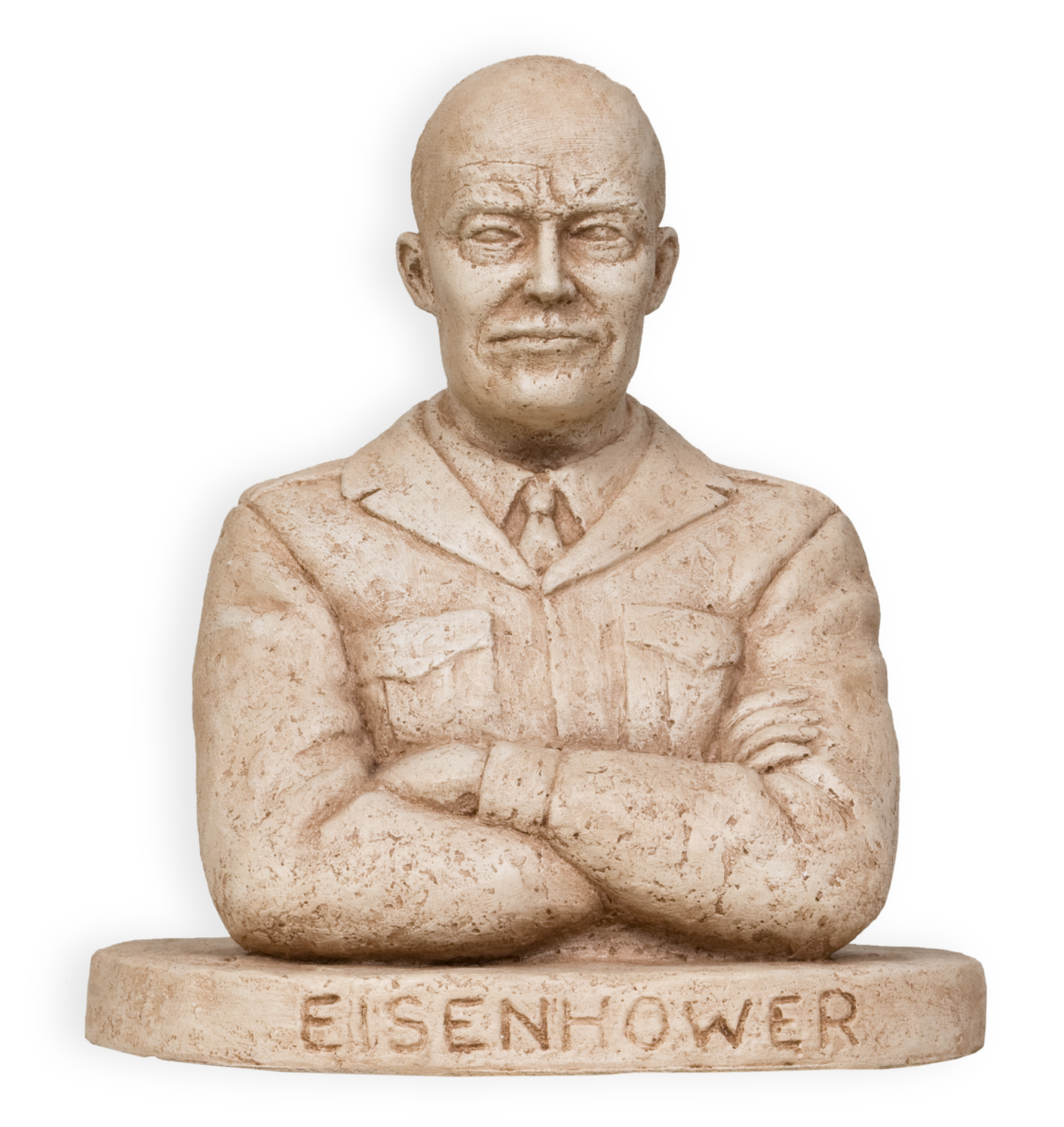 Peter Felten's model of Dwight Eisenhower, made for the Capitol sculpture competition.