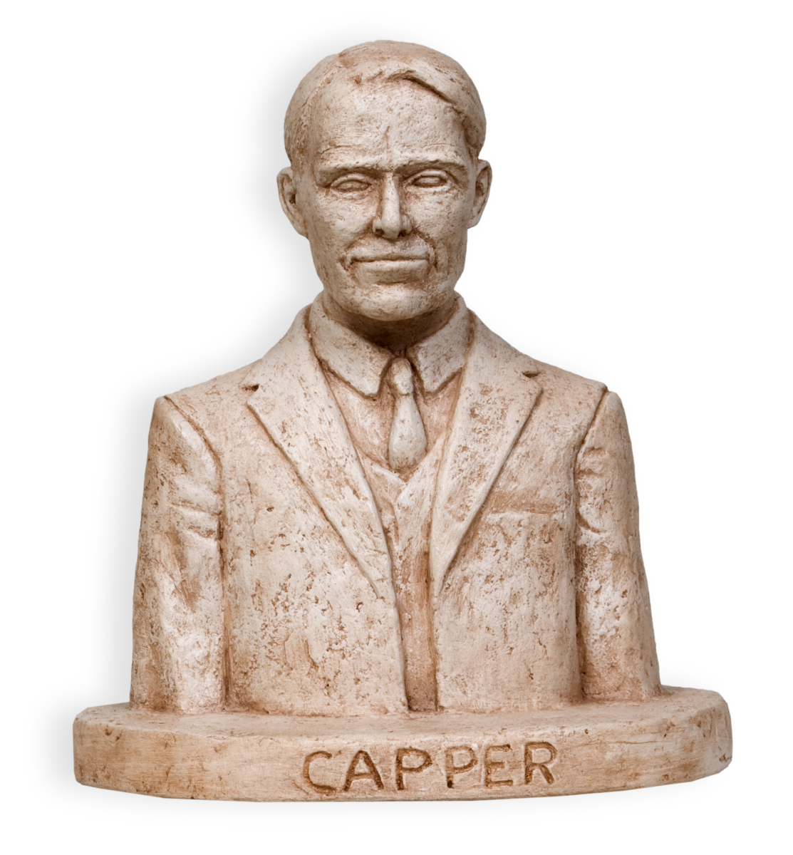Model of Arthur Capper by sculptor Pete Felten.