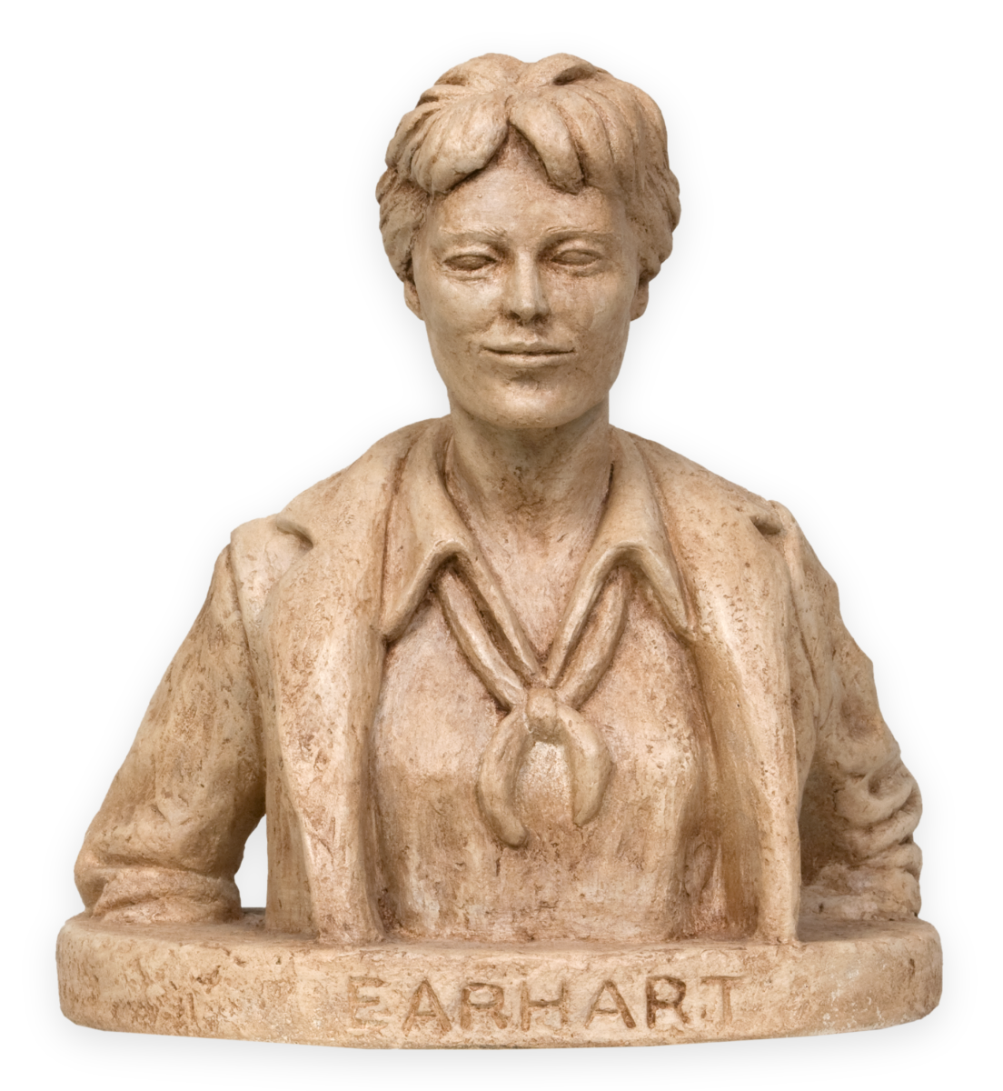 Model of aviator Amelia Earhart made for the Capitol sculpture competition