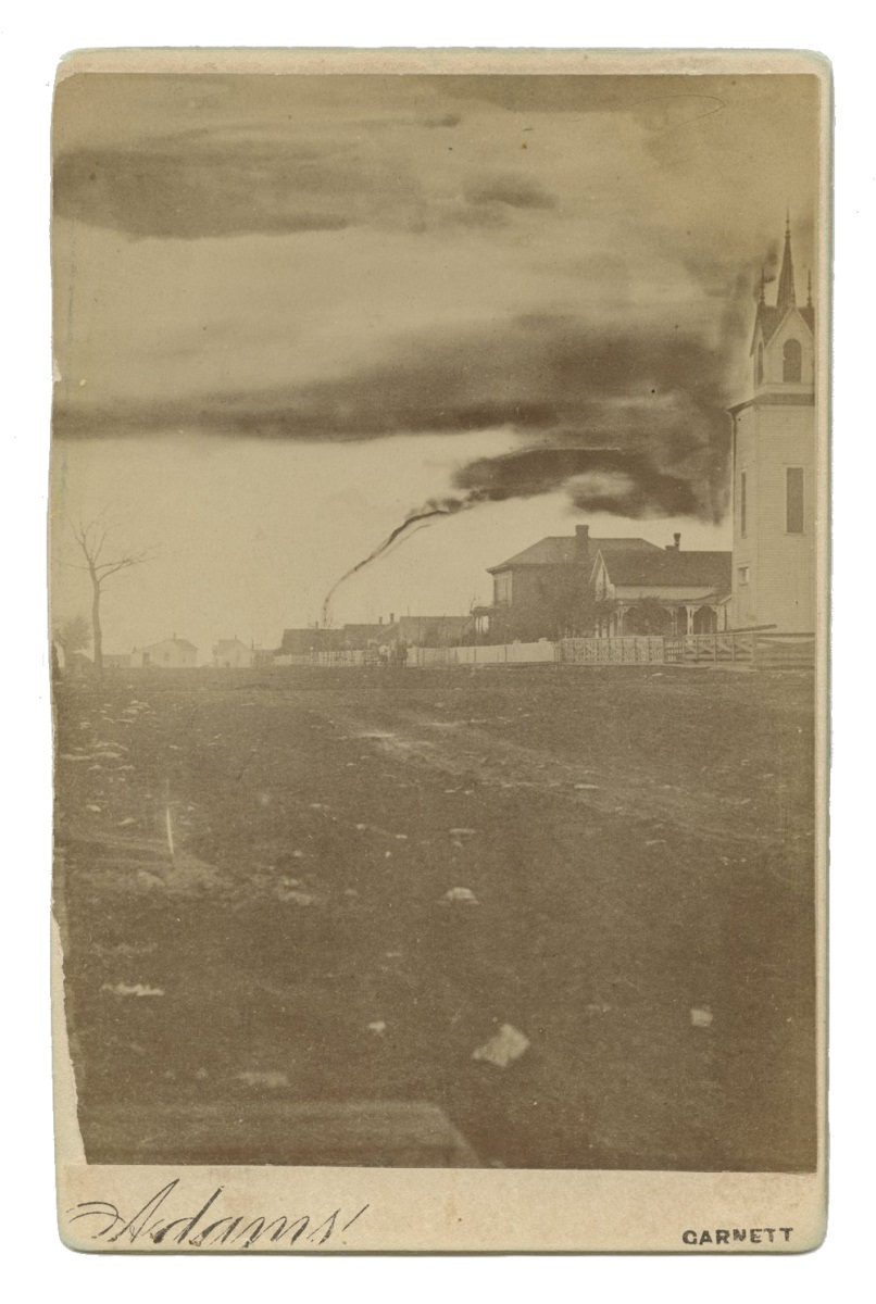 First photograph of a tornado, taken in Anderson County, Kansas, in 1884