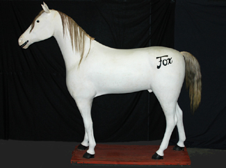 Fox the horse mannequin