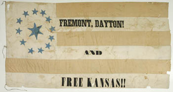 Freemont  campaign flag from 1856 presidential election