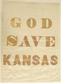 God Save Kansas banner from 1856 presidential election