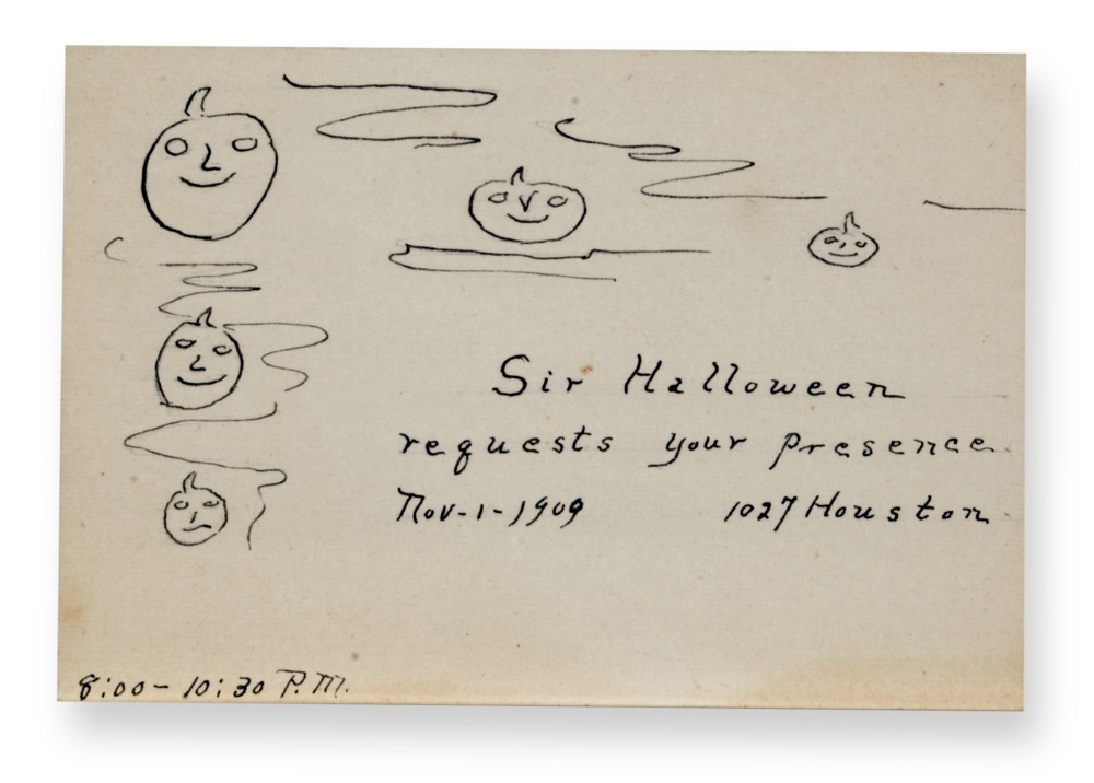 Halloween invitation, 1909.
