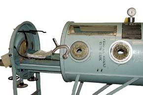 The iron lung, opened