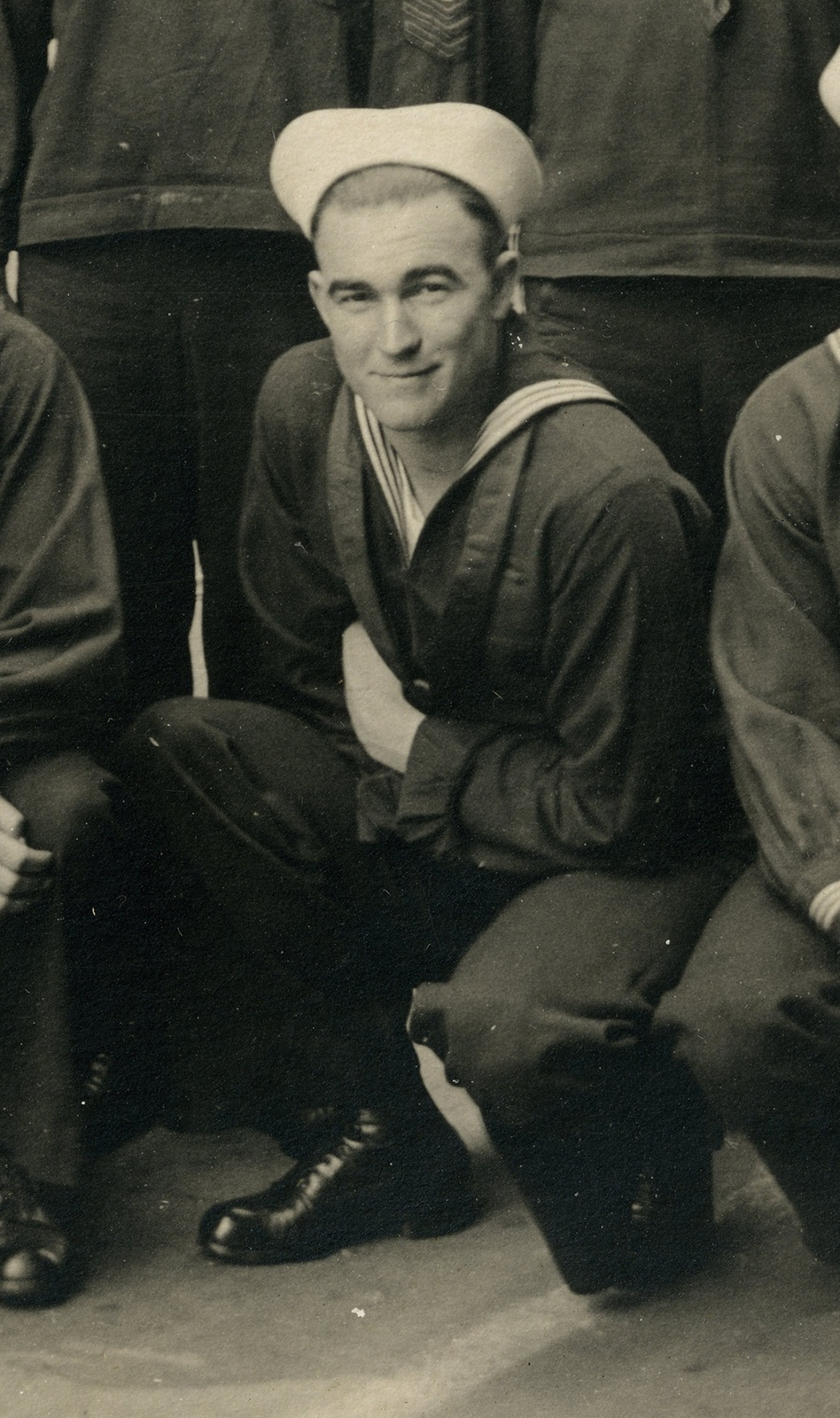 Joe Price in his Navy uniform.