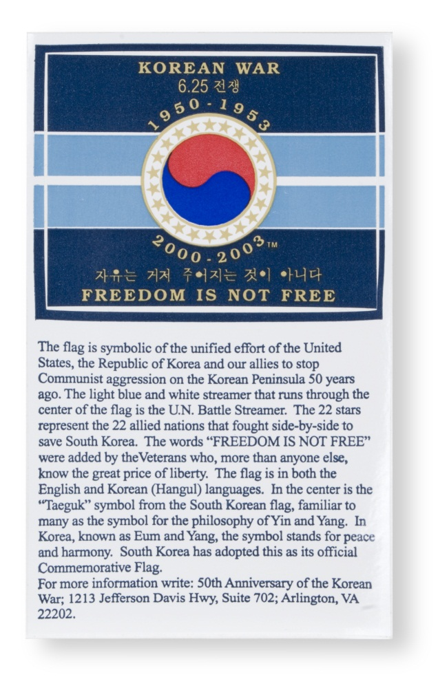 Korean War anniversary sticker.