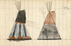 Ledger art depicting a pair of 