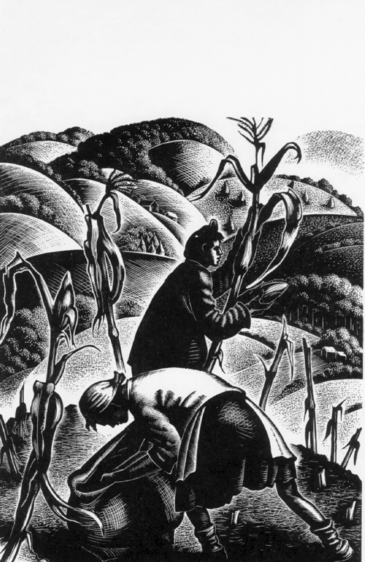 Corn Pulling by Clare Leighton (1952)