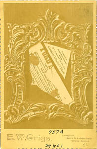 Photograph of playbill fragment