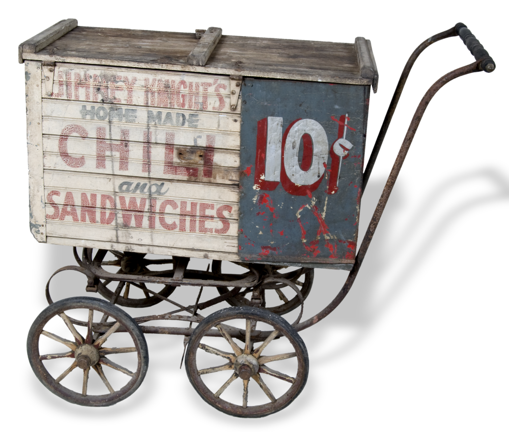Jimmy Knight's lunch cart