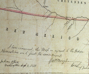 George Manypenny's authorization of the map's authenticity.