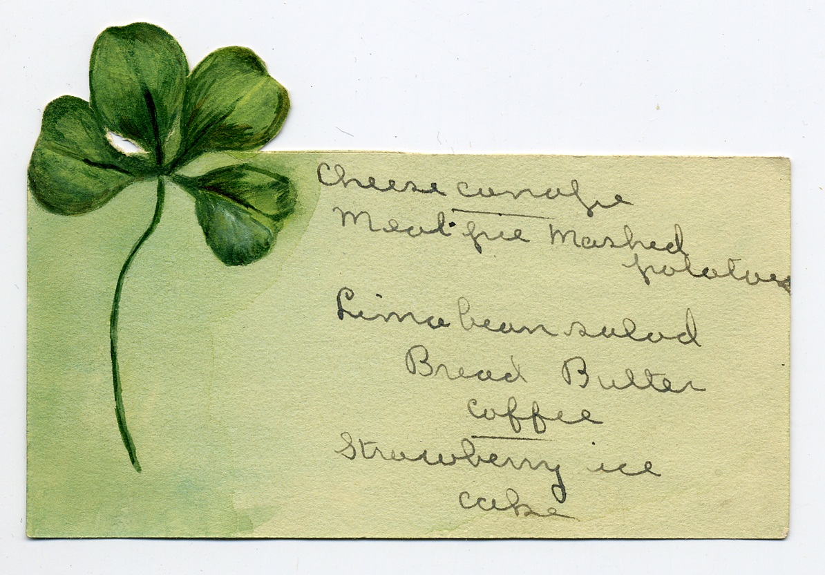 Four-leaf clover menu
