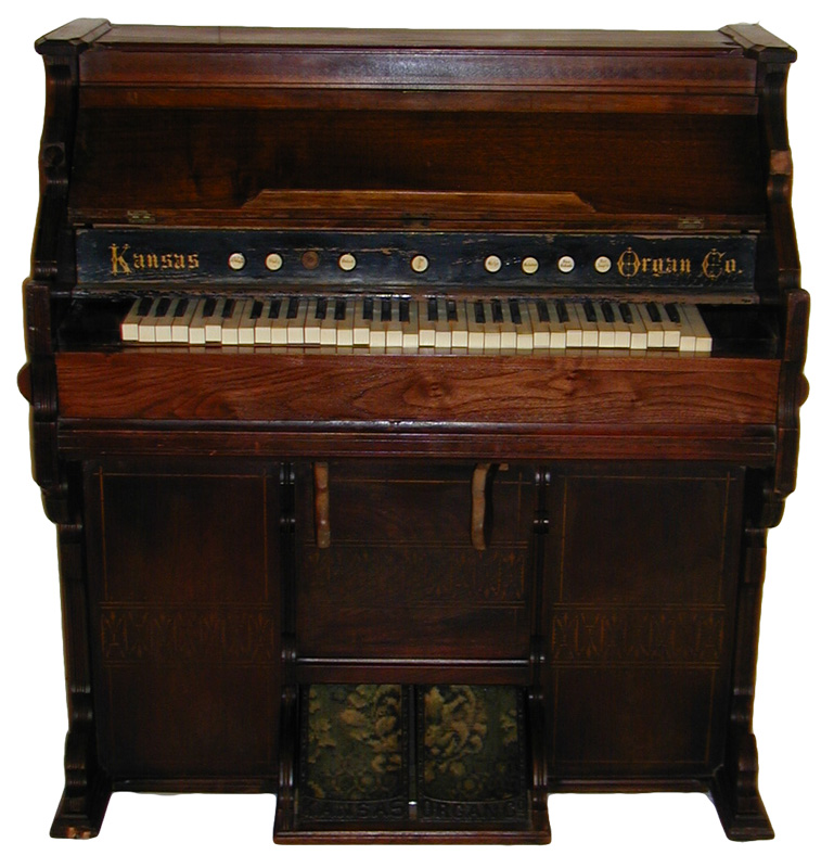 Parlor organ made in Leavenworth