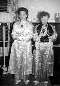 Loretha and Anna Morgan wearing their pajamas