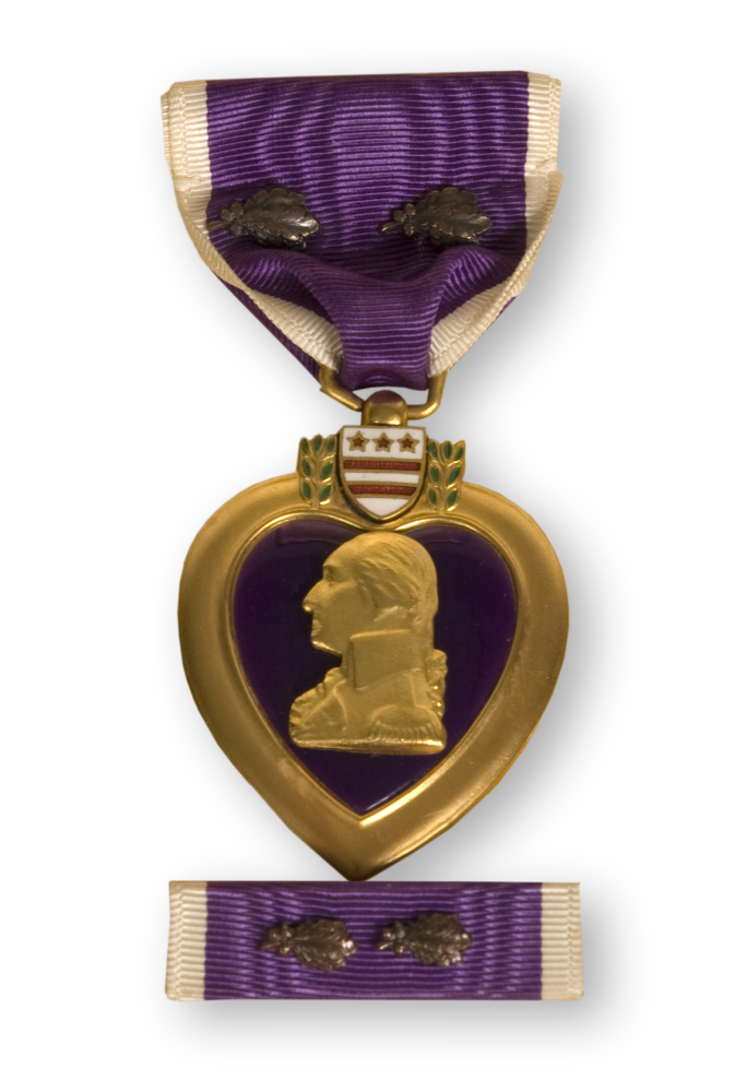 George Robb's Purple Heart medal.