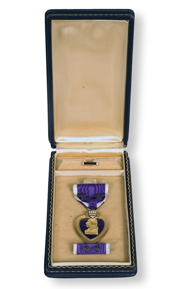 Robb's Purple Heart medal in box.