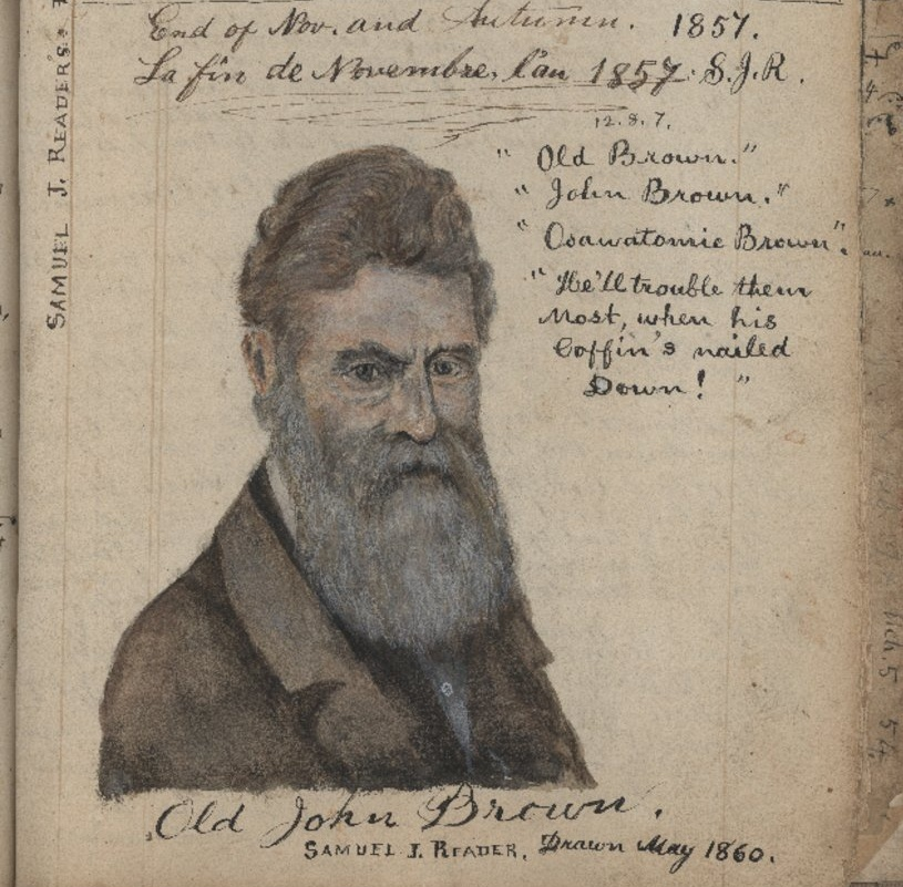 John Brown drawn by Reader in the latter's diary