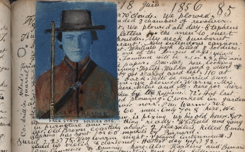 Samuel Reader depicted in an altered photograph in his diary