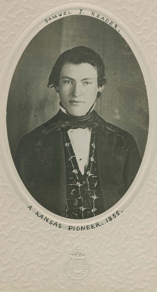 Samuel Reader at the age of 18 in 1855