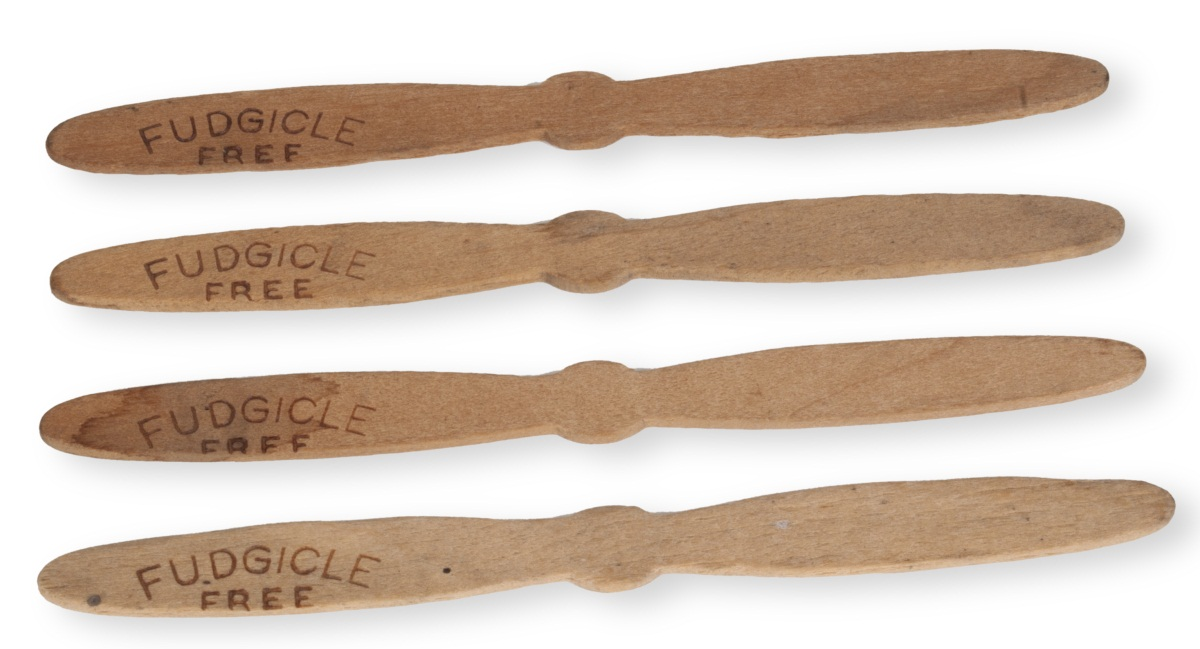 """Fudgicle"" sticks from Scott Brothers Ice Cream Company"