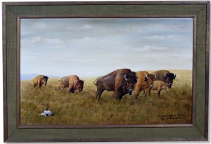 Bison - Central Plains by Louis ShipShee
