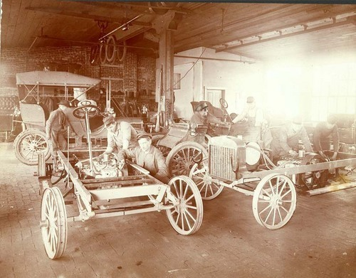 Smith Auto Factory, Topeka, early 1900s