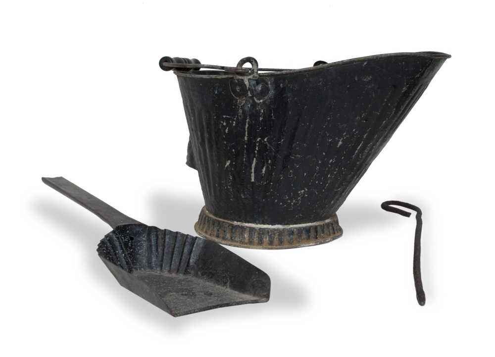 Coal stove tools used in a Kansas sod house.