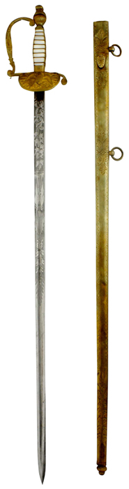 Titus  sword and scabbard