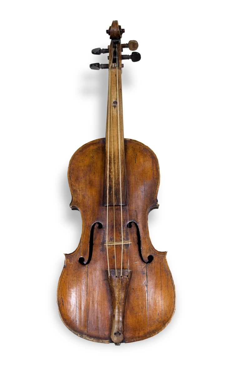 Violin brought to Kansas in 1855.