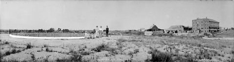 Panoramic photo of Waconda Springs in 1921