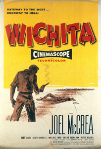 "Western movie poster for ""Wichita"""