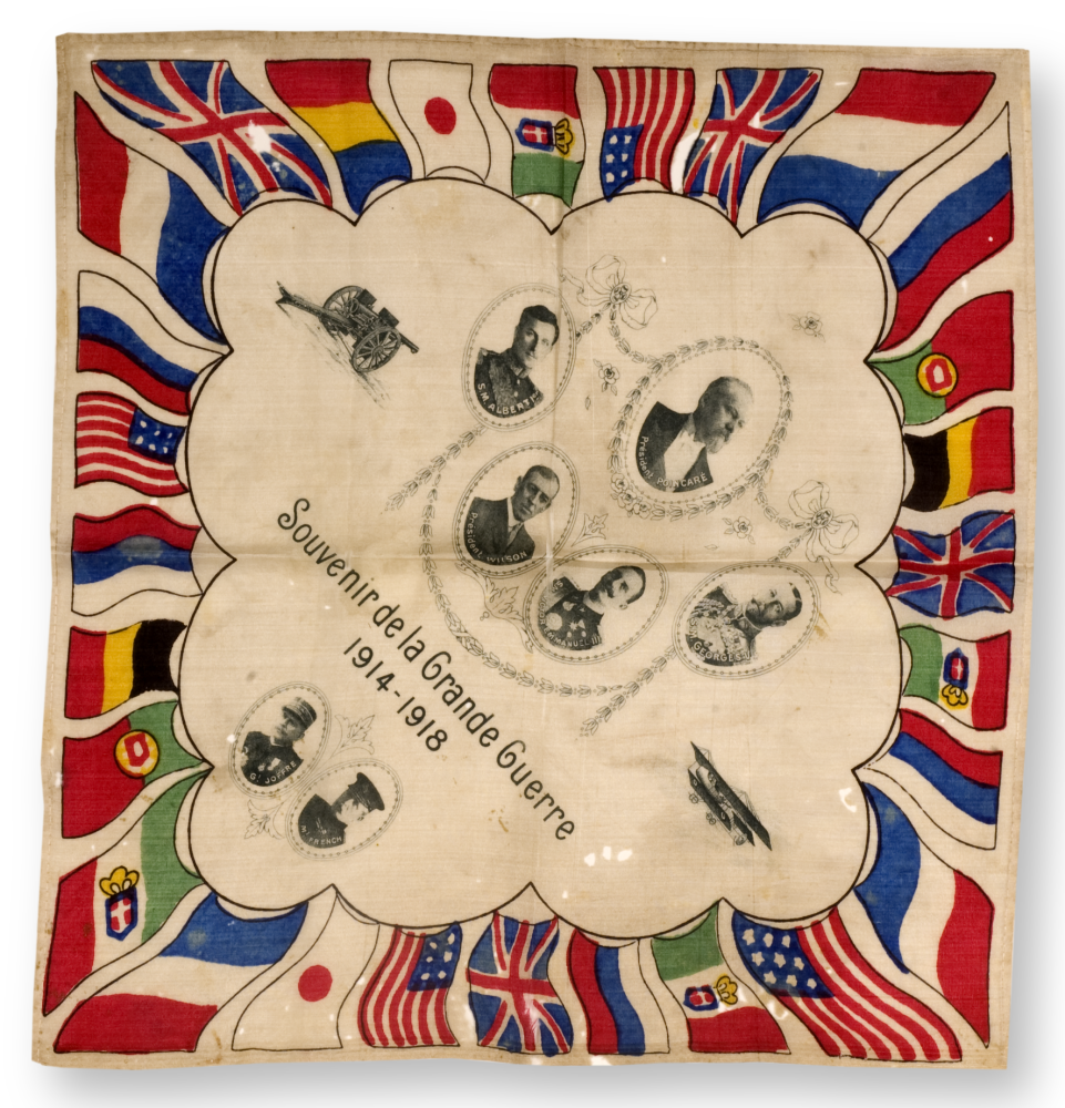 World War I souvenir handkerchief.