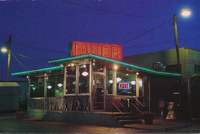 Broadway Diner at night