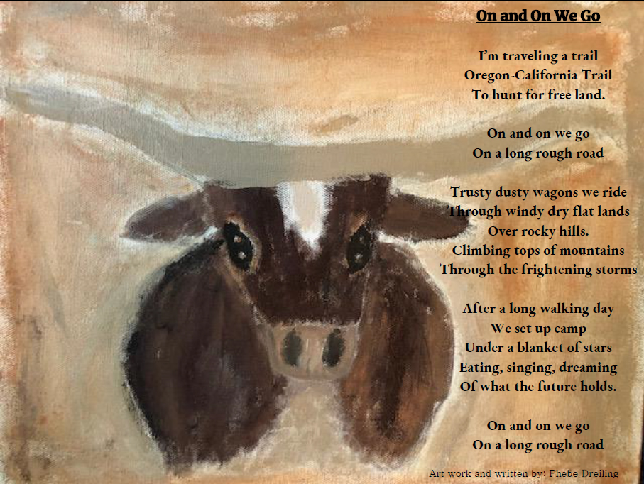 Phebe Dreiling's artwork and poem