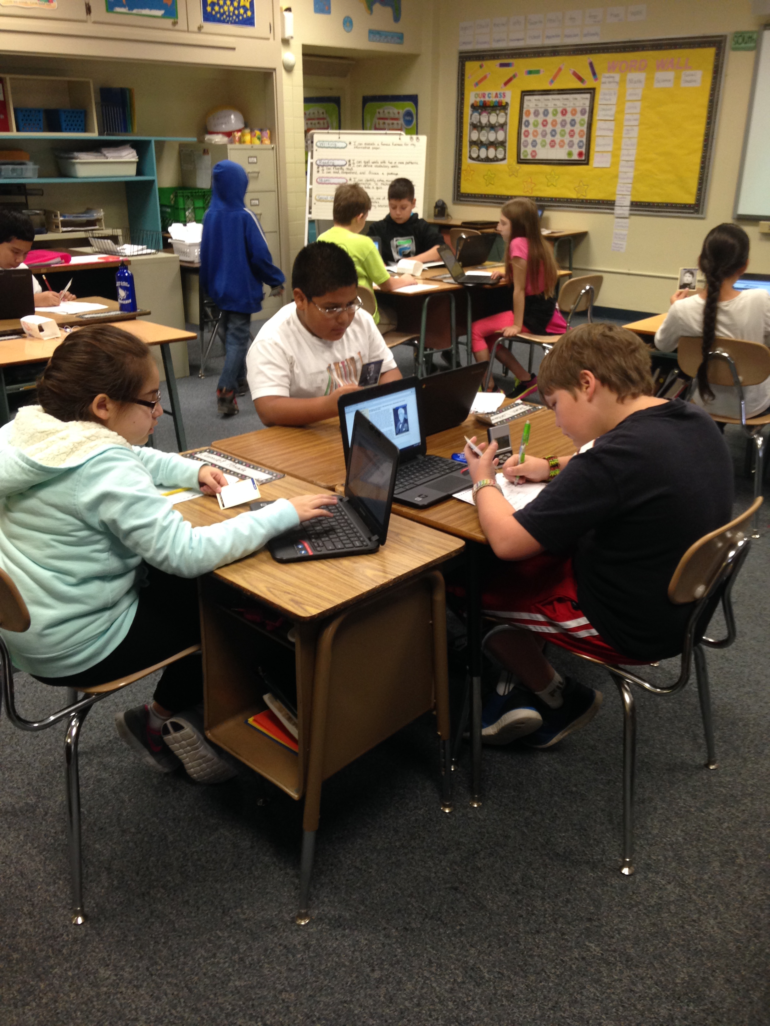 Researching the famous Kansans as a class project
