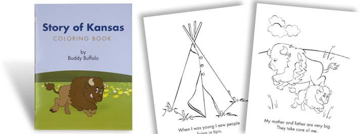 Story of Kansas Coloring Book