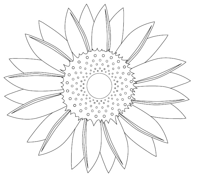 Sunflower Cartoon Colouring Pages