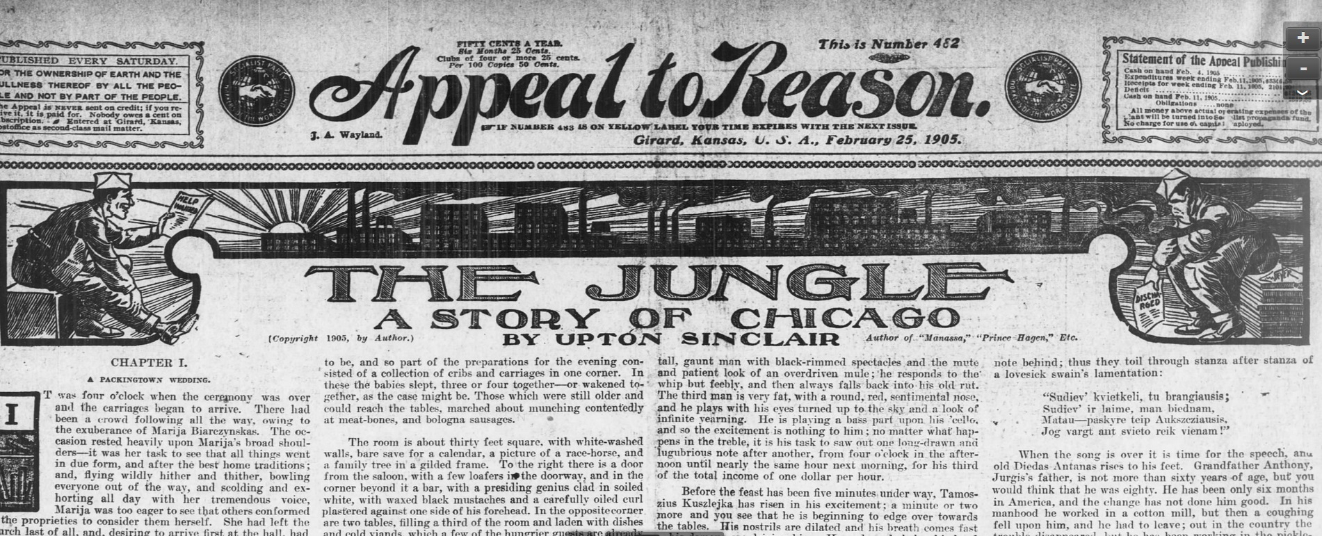 The Jungle Debuts in Appeal to Reason