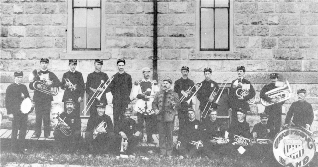 Union Pacific Band photo, courtesy Ellis County Historical Society.