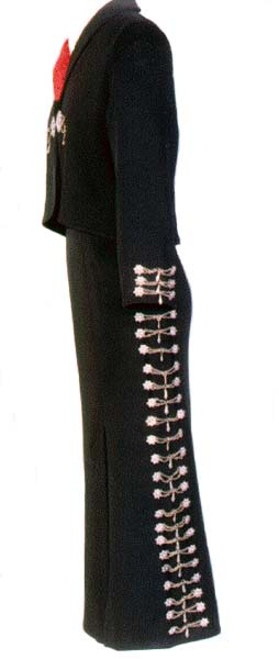 Mariachi costume worn by Teresa Cuevas.